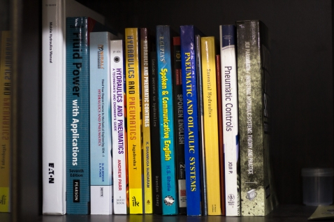 A collection of books
