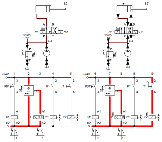 relay based electro hydraulic systems \u2013 fluidsys training centre Limit Switch Circuit 14 time delay circuit